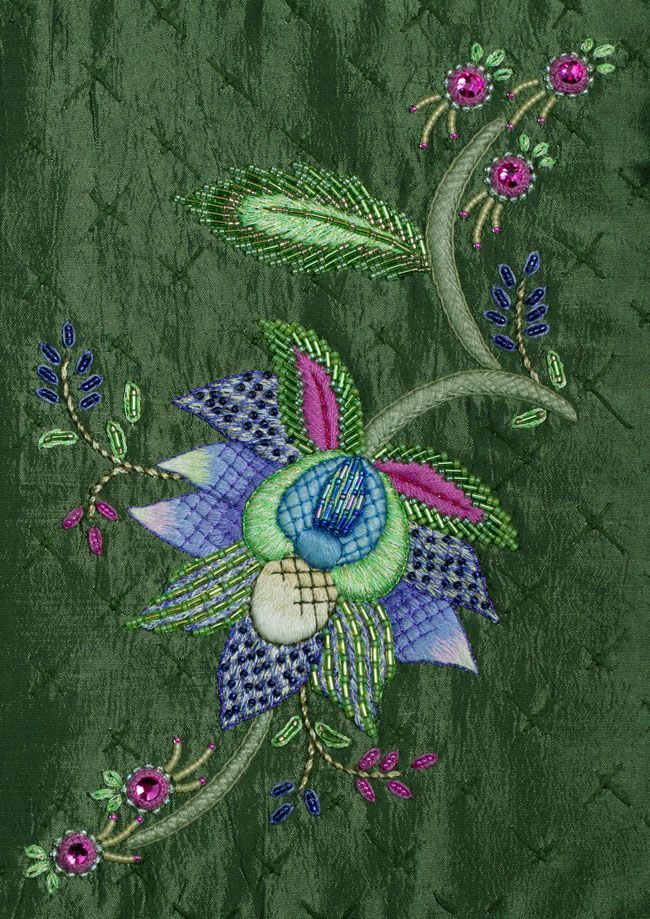 Inflorescence by Hazel Blomkamp from South Africa. Hazel will be teaching this project at the Koala Conventions International Embroidery & Textile Event 4th - 12th July. To view details on over 85 projects please visit www.koalaconventions.com.au