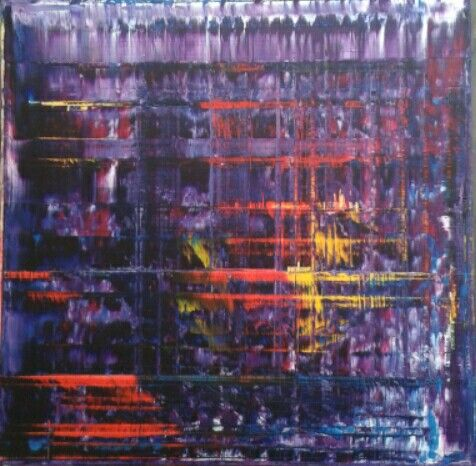 Lubomír Miča, Abstract Paiting, acryl 90x90cm