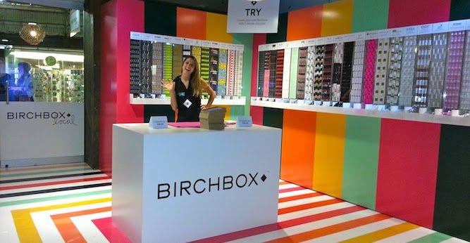 We're loving the colorful look of this Birchbox pop-up store!