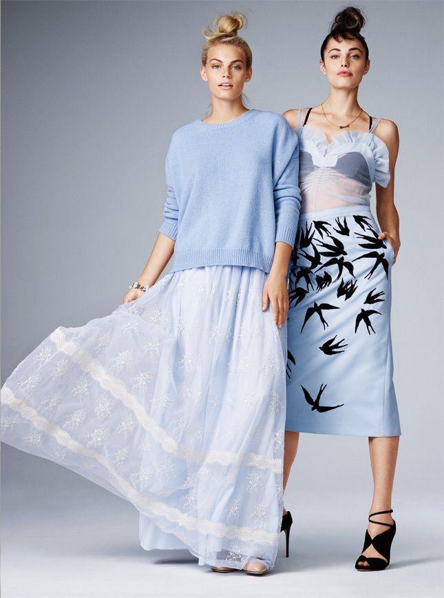 Модные тренды осеннего сезона: голубой, золото, вещи в стиле этно, мини и пестрые принты | Glamour