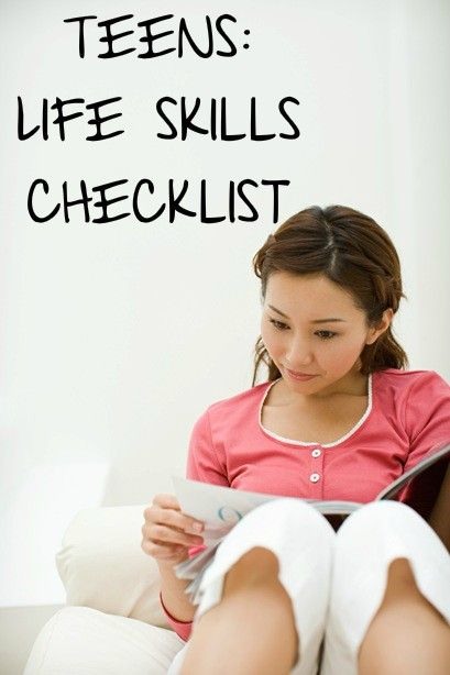 Life skills checklist for teens. How should teens be prepared for an apartment, necessities, fun and emergencies? Go over these questions with them to make sure they are truly comfortable with doing them instead of just head strong that they can make it on their own.