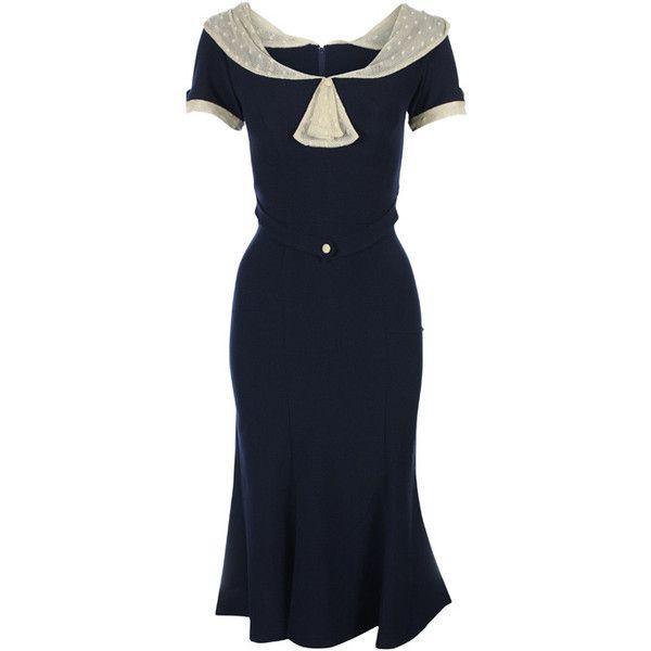 Stop Staring Raileen Dress (2.729.740 IDR) ❤ liked on Polyvore featuring dresses, vintage, vintage dresses, stop staring!, blue vintage dress, blue dress and stop staring dresses
