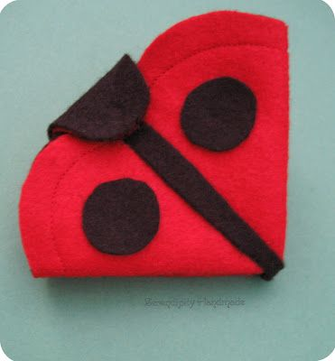 Ladybug-inspired needle case tutorial at Serendipity Handmade blog.  For personal use only.