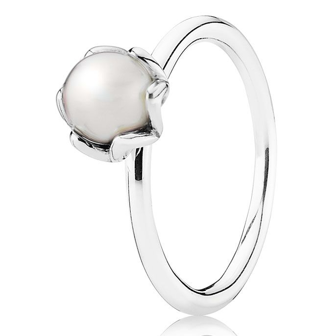 Pandora Cultured Elegance with White Pearl Ring