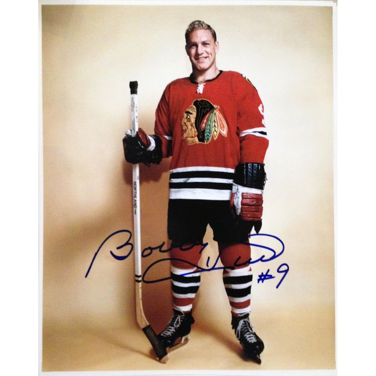 This 8x10 photo is Bobby Hull's HHOF Induction photograph. The photo is hand autographed, comes as shown, with Hologram and Certificate of Authenticity. Product dimensions in inches: 8 x 10 x 0.025 Ty