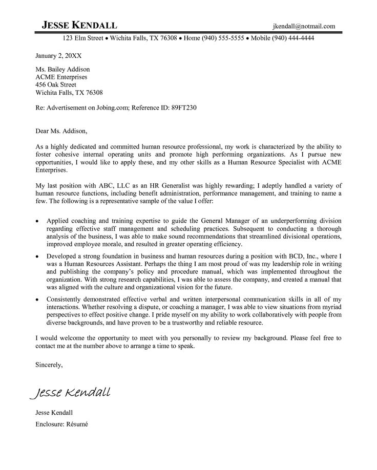 Professional Cover Letters For Resume: 105 Best Images About Resume Example On Pinterest