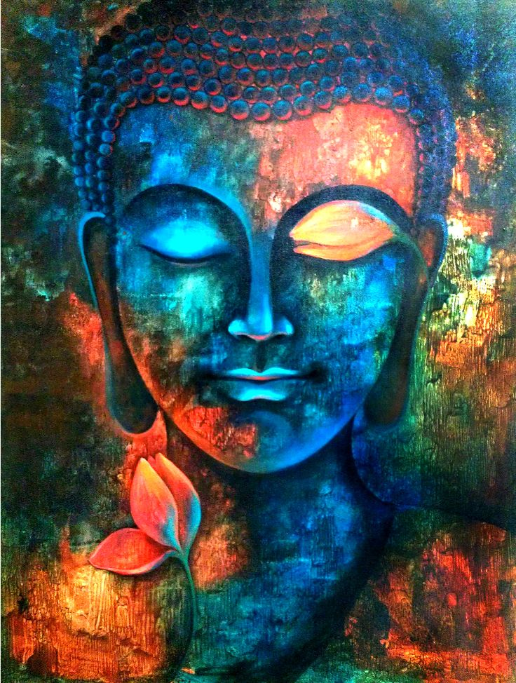Best 25 buddha painting ideas on pinterest buddha for Contemporary mural art