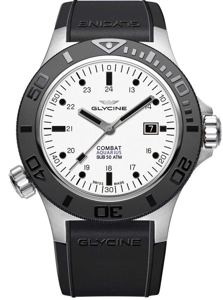 Glycine Watch Combat Sub Aquarius #add-content #basel-17 #bezel-unidirectional #bracelet-strap-rubber #brand-glycine #case-material-steel #case-width-46mm #date-yes #delivery-timescale-call-us #dial-colour-white #gender-mens #luxury #movement-automatic #new-product-yes #official-stockist-for-glycine-watches #packaging-glycine-watch-packaging #style-divers #subcat-combat #supplier-model-no-gl0037 #warranty-glycine-official-2-year-guarantee #water-resistant-500m