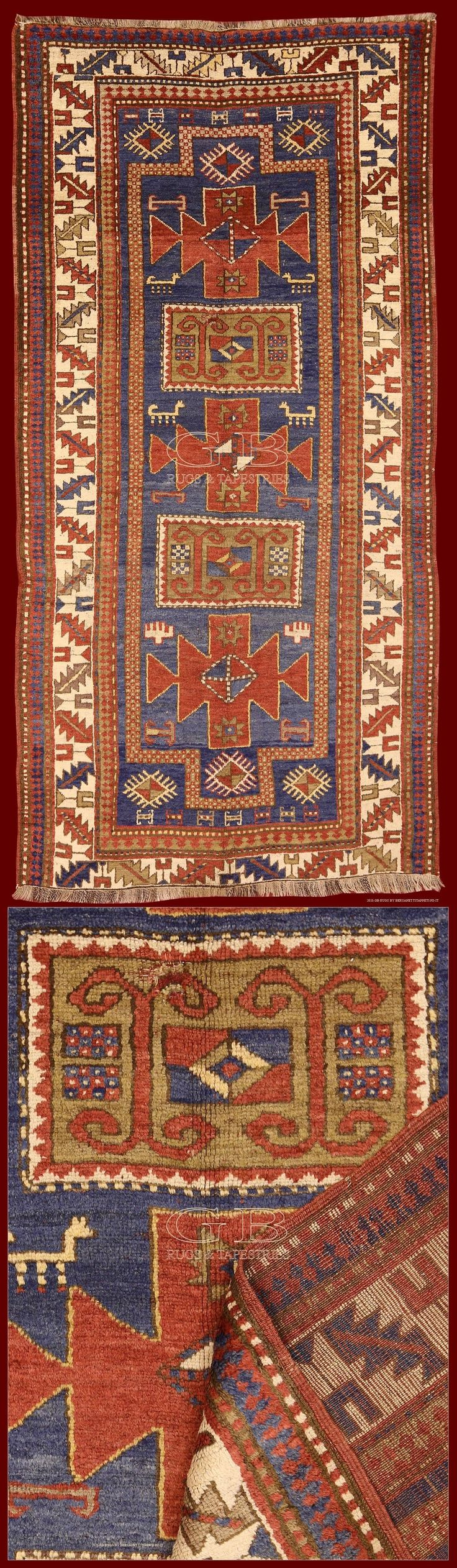 ANTIQUE KAZAK RUG 273 x 134 | 141503458748 | GB Rugs