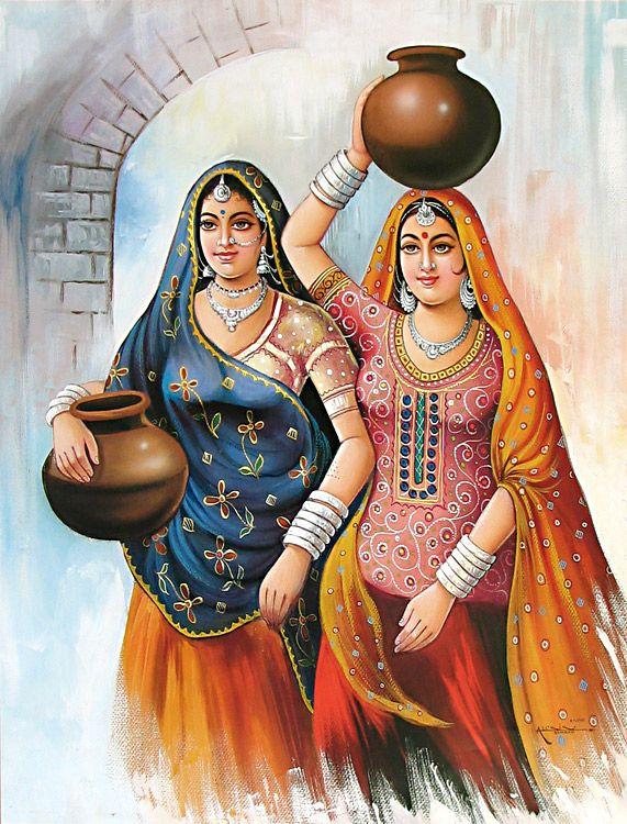 IndiAn WOMEN    in PAintings Part 2