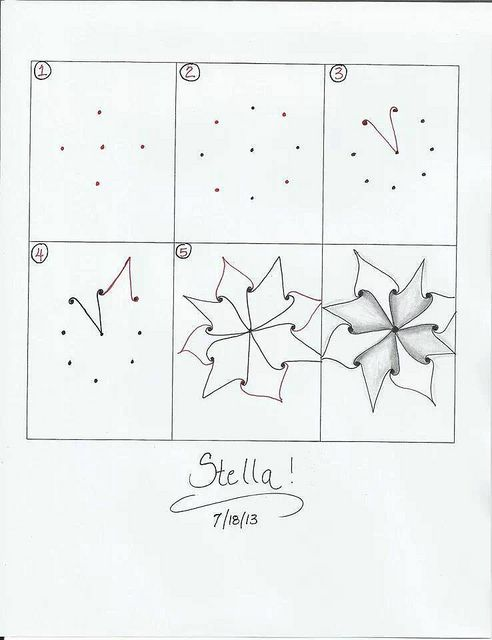 Zentangle pattern - Stella | Flickr - Photo Sharing!  Created by Jana Rogers
