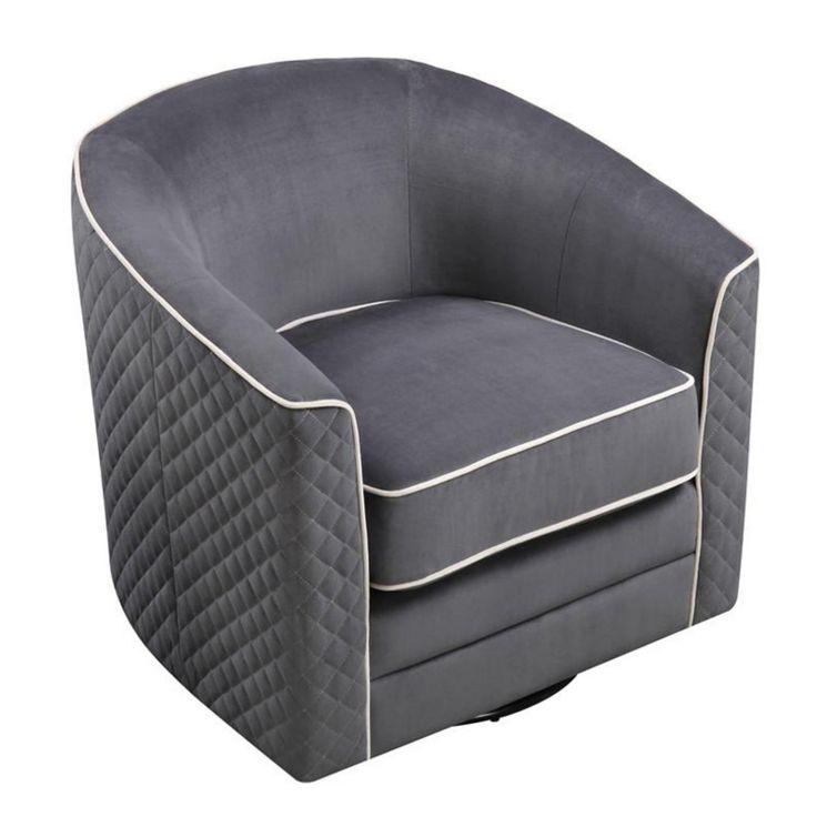 Emerald Home Roe Swivel Barrel Chair - U3504-04-03