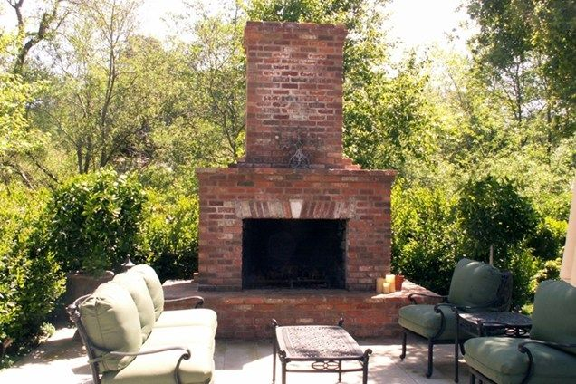 17 best ideas about outdoor fireplace brick on