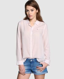 Camisa de mujer Hilfiger Denim de rayas en color melocotón