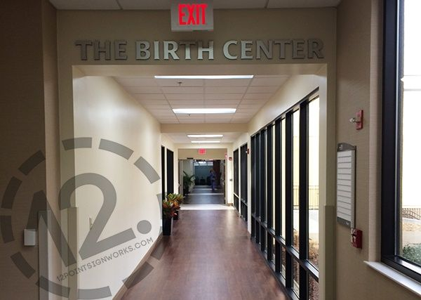 New dimensional letters for The Birth Center at TriStar Hendersonville Medical Center. 12-Point SignWorks