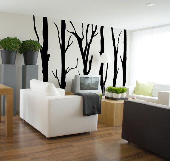 Wall decal FOREST 250 cm x 276 cm loony bin by LoonyBinWorkshop