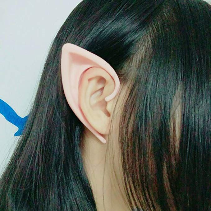 Cosplay Short Elf Ears Fairy Pixie Anime Costume Pointed Ear Tips for Kids Adult
