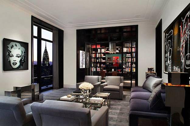 modern living room designs in black-n-white