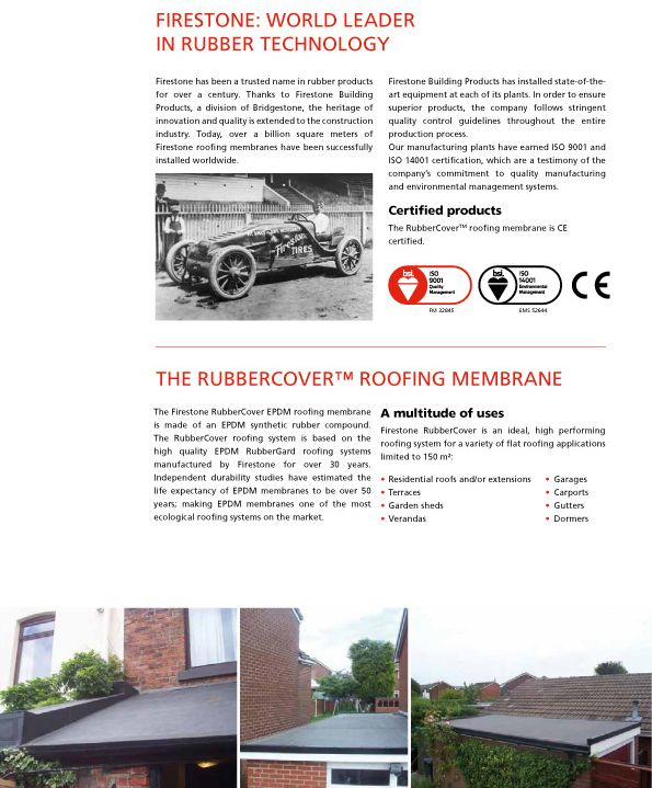 Best prices for genuine Firestone EPDM. Cut to size rubber roofs. Next day delivery. Best prices. Buy online or call in. Huge stocks. Rubber roofing experts.
