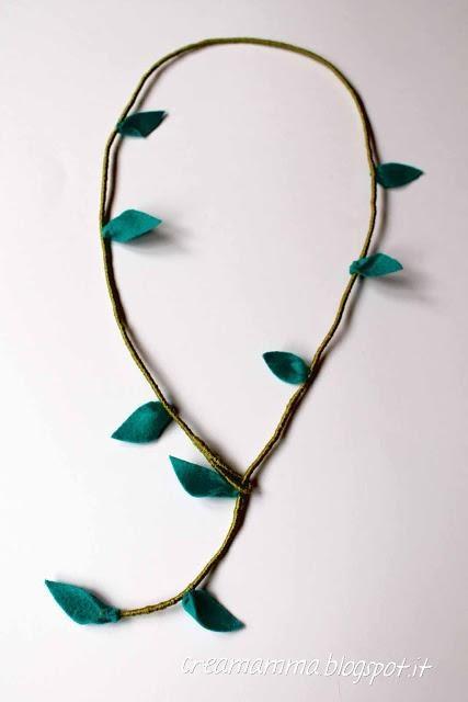 handmade #collana ramo con floglie - tutorial
