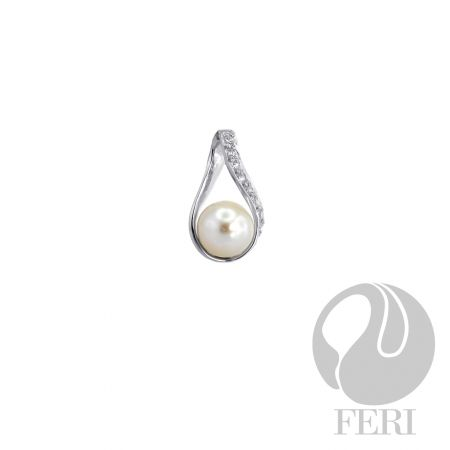 An amazing item from the FERI designer lines collection for $130 only. Message us to get 20% off.  Details  - 925 fine sterling silver  - 0.5 micron natural rhodium plating  - Set with AAA white cubic zirconia and synthetic pearl  Our new customers enjoy a $15 shopping credit and upto 10% rebate on purchases.  We are also hiring and expanding our team so if you are looking to make some additional income on the side & be part of an exciting industry visit http://opportunity.feristore.com