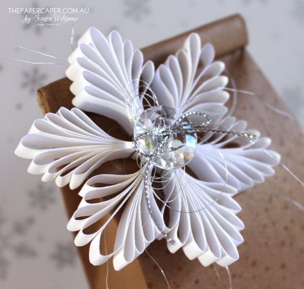 Snowflake Christmas ornament or tag created with Stampin' Up! supplies by Jessica Williams I www.thepapercaper.com.au