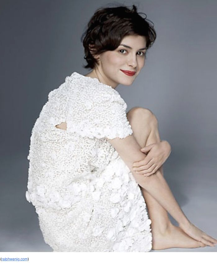 Audrey Tautou has a lovely, disheveled pixie that makes the most of her natural waves. This shape is playful and feminine and suits a variety of faces, even wide or round shapes (though a side part would make it an even better fit).