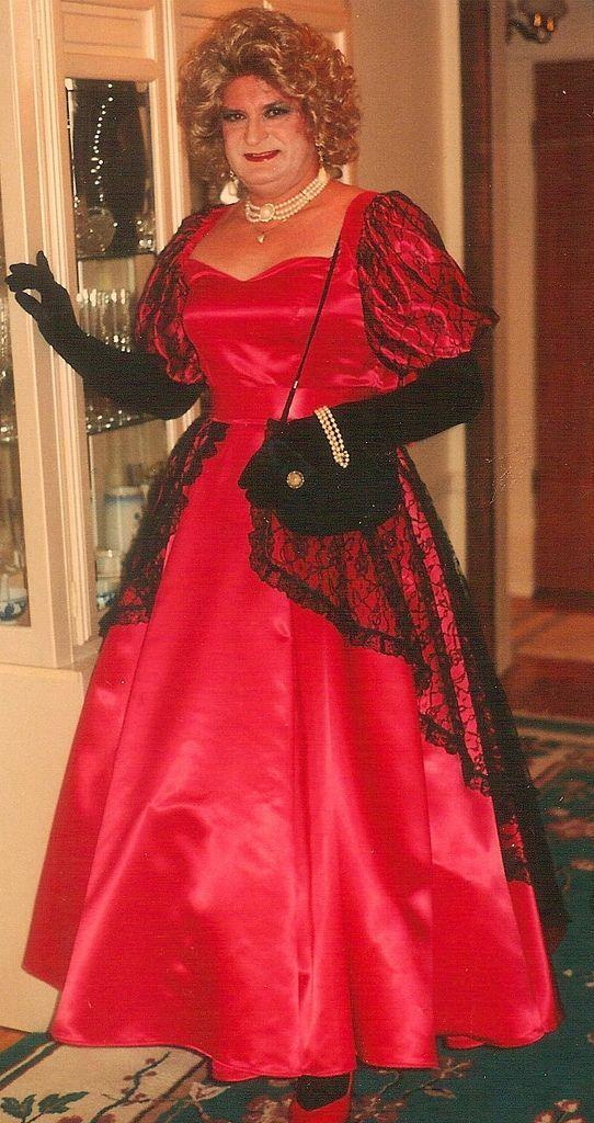 Red Satin Gown Priscilla St John Design Domain
