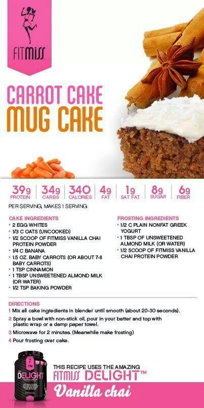 Fitmiss Carrot Mug Cake