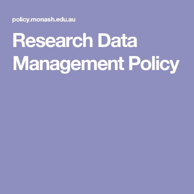 Research Data Management Policy