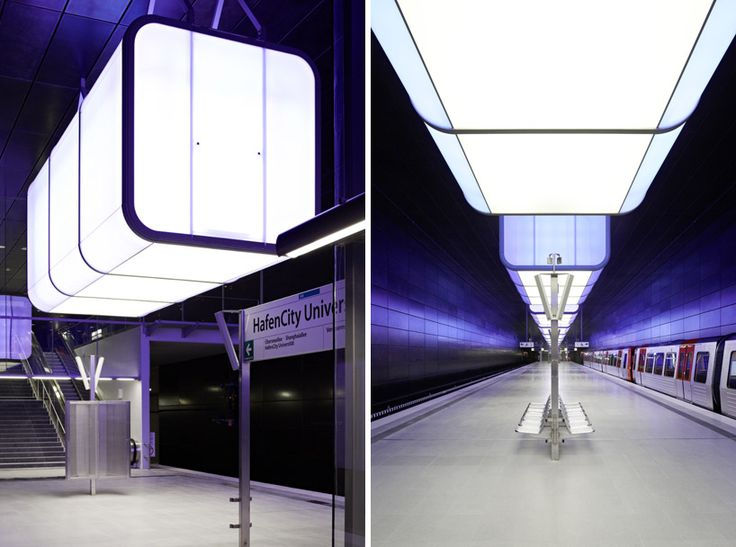 pfarre lighting design: hafencity university subway station, hamburg