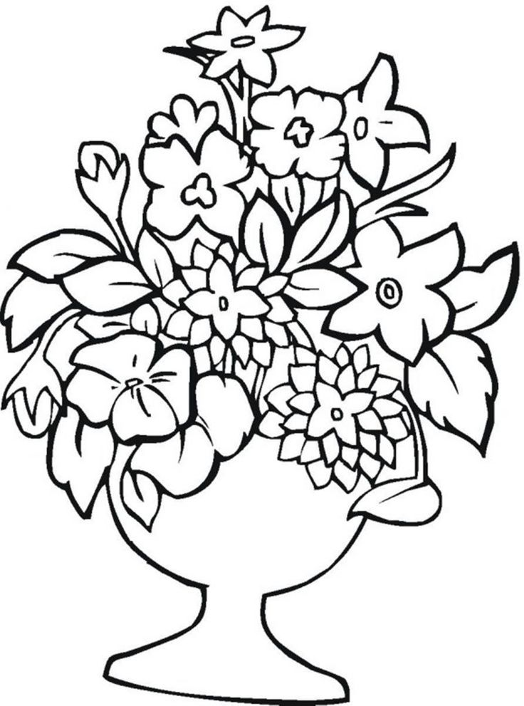 73 Best Images About Flower Coloring Pages On Pinterest