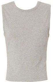 T by Alexander Wang Open Back Twist Tank: Grey