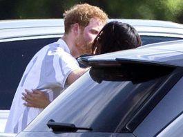 Принц Гарри и Меган Маркл публично целовались