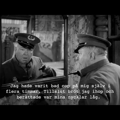 #polis #dålig #nycklar #spegel #villfarelser #ironi #humor #poesi #text #foto