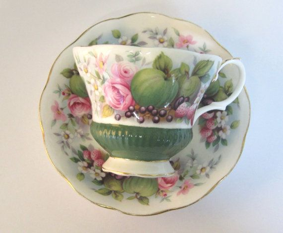 Royal Albert Tea Cup and Saucer Country Fayre Somerset - RESERVED for Galina