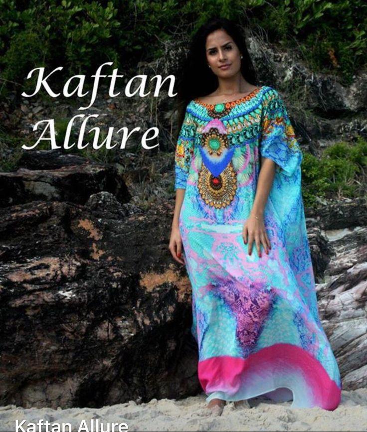 www.kaftanallure.com.au. #silkkaftan #designerlook #embellished #bohemian #resortwear #luxurious