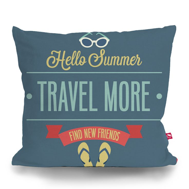 Cushion Cover TRAVEL MORE by Sticky!!!