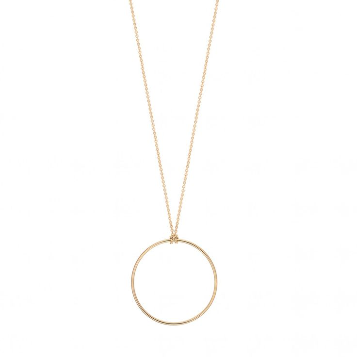Baby Circle 18-karat rose gold necklace Ginette NY nAmbw8c