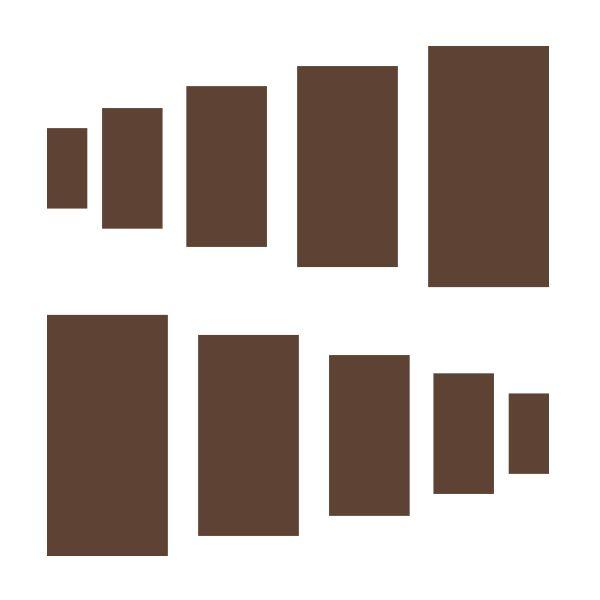 Chocolate Brown Rectangles Vinyl Wall Decals #decals #stickers #decalvenue