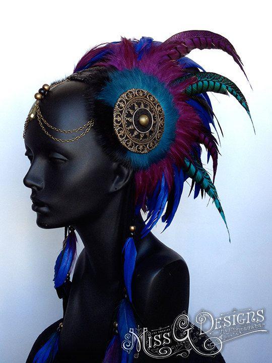 MADE TO ORDER Black Blue & Purple Warrior by MissGDesignsShop, $385.00