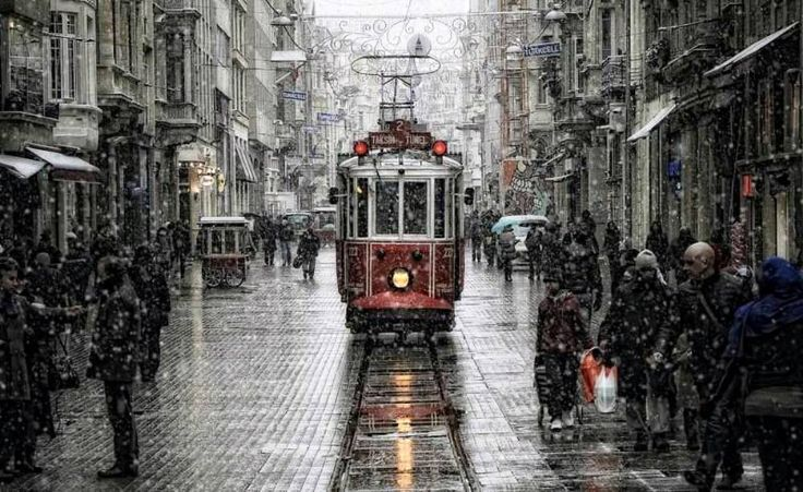 Winter In Istanbul, Turkey.