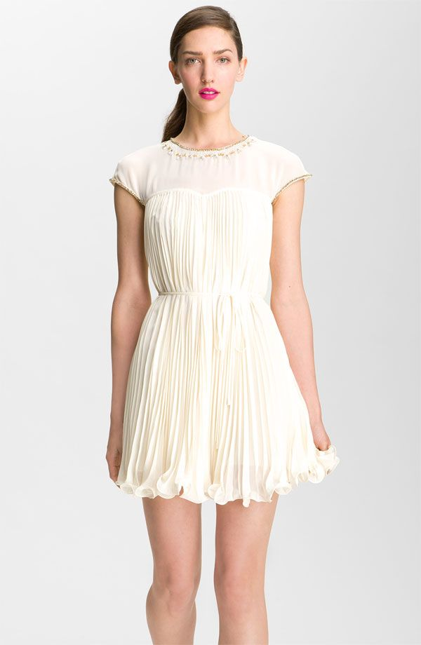 Ted Baker London Embellished Pleated Dress