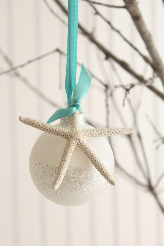Star fish Coastal Christmas Ornament