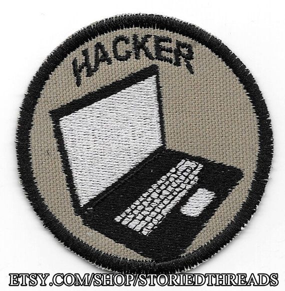 Computer Hacker Geek Merit Badge Patch by StoriedThreads on Etsy