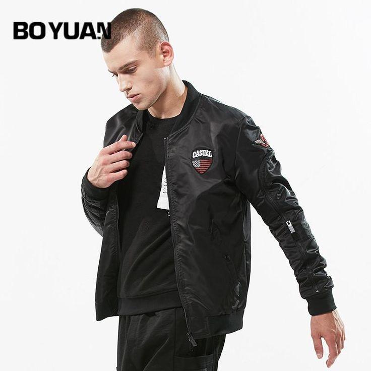 BOYUAN Mens Coats Casual Regular Men's Jacket-bomb Manteau Homme Jackets Men Stand Collar Fashion High Quality Outerwear DSW730