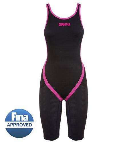 Arena Powerskin Carbon Flex Limited Edition Open Back Full Body Short Leg Tech Suit Swimsuit
