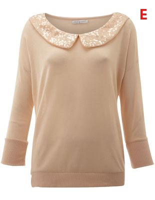 Only Sequin 3/4 sleeve top - collect 34 nectar points when you buy