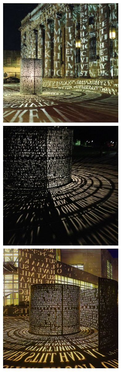 Поэзия в световой скульптуре Джима Сэнборна