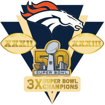 Denver Broncos Super Bowl 50 Champions Franchise Pin
